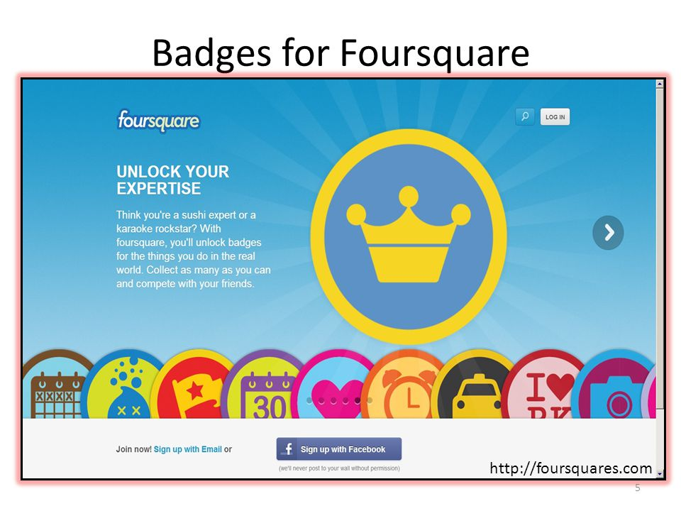 Badges for Foursquare http://4squaresbadges.com http://foursquares.com 5