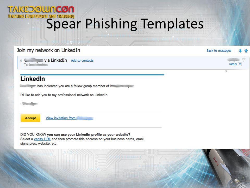 Spear Phishing Templates