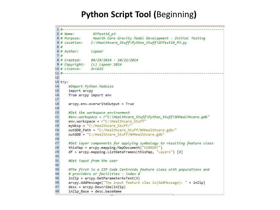 Python Script Tool (Beginning)