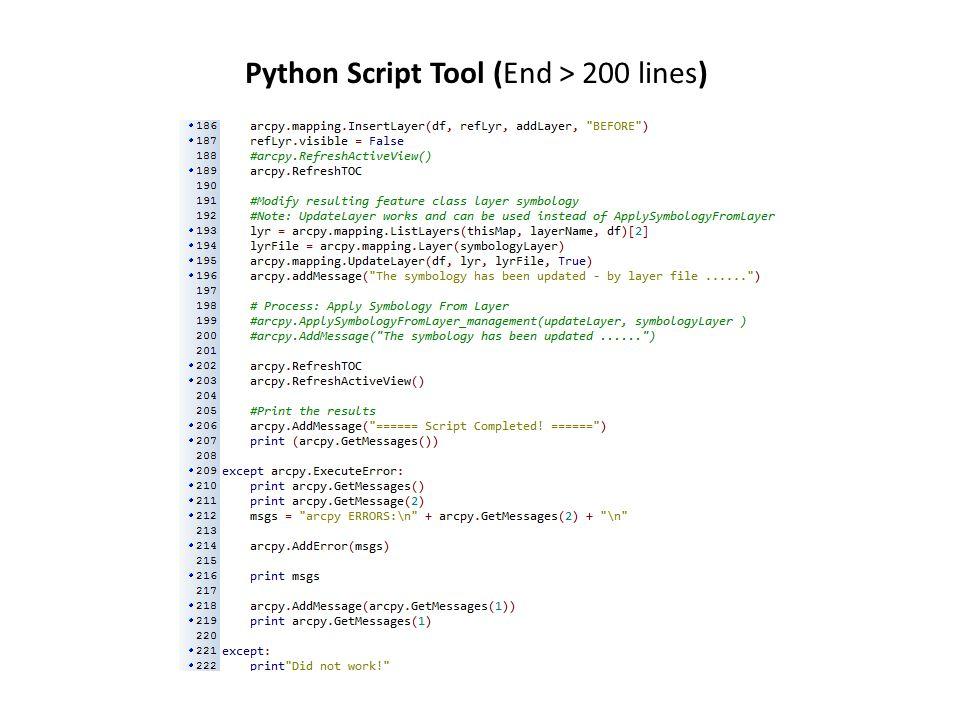 Python Script Tool (End > 200 lines)