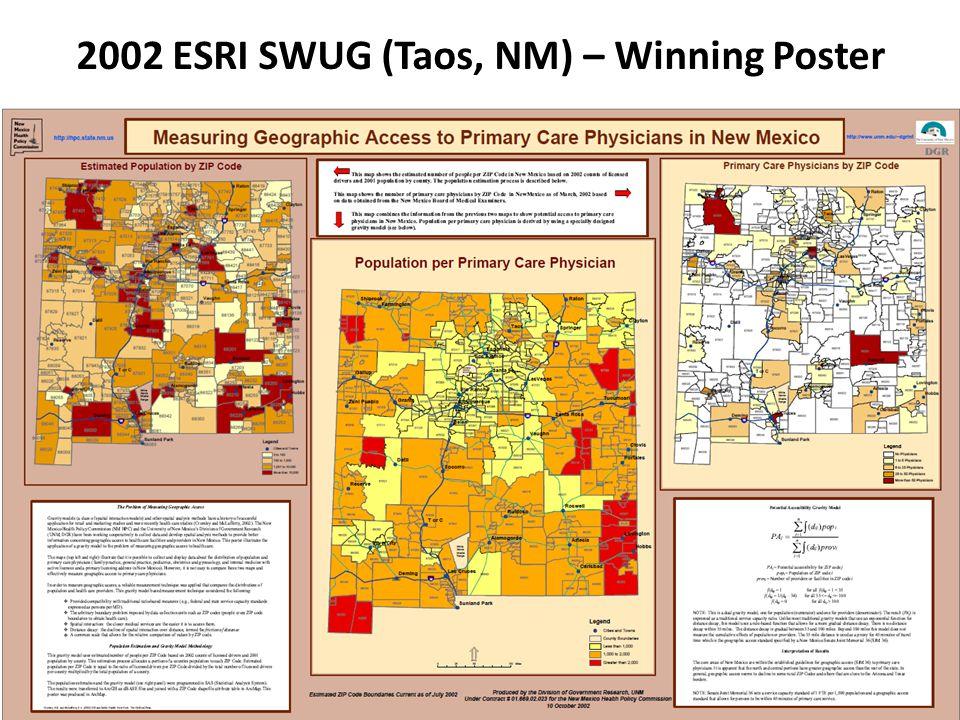 2002 ESRI SWUG (Taos, NM) – Winning Poster