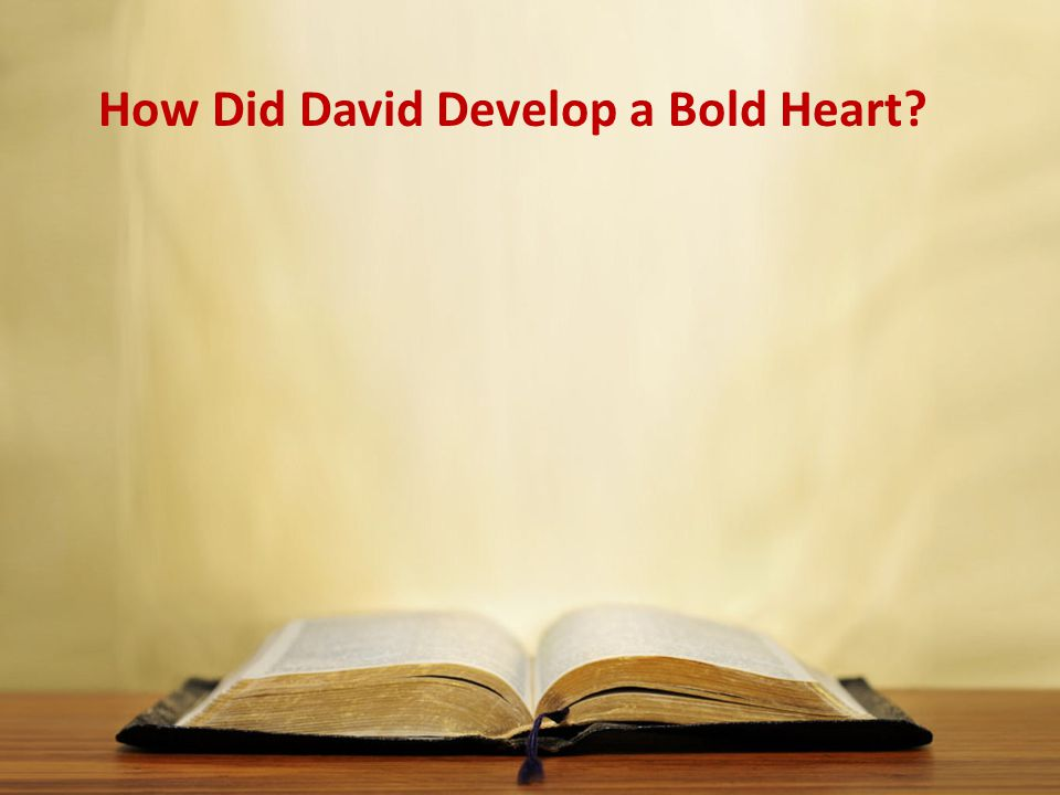 How Did David Develop a Bold Heart?