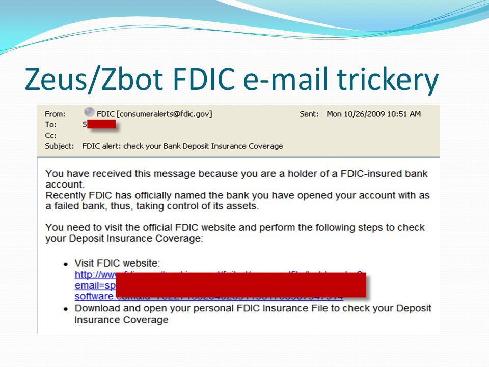 Zeus/Zbot FDIC e-mail trickery