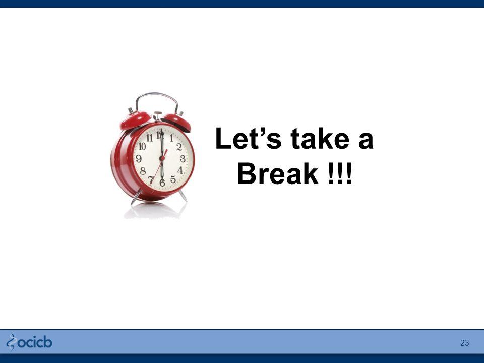 23 Let's take a Break !!!
