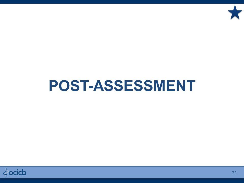 POST-ASSESSMENT 73