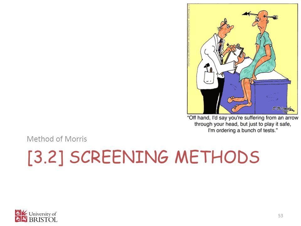[3.2] SCREENING METHODS Method of Morris 53