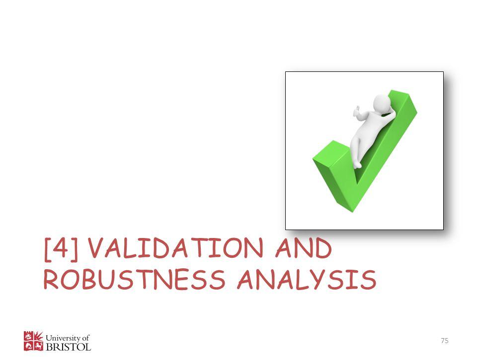 [4] VALIDATION AND ROBUSTNESS ANALYSIS 75