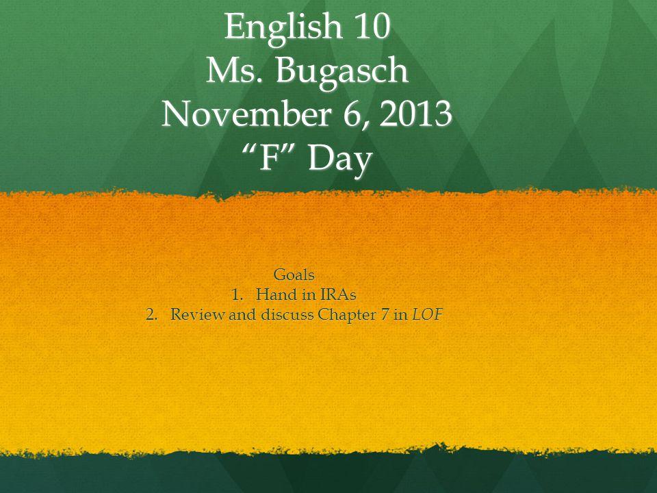 English 10 Ms.