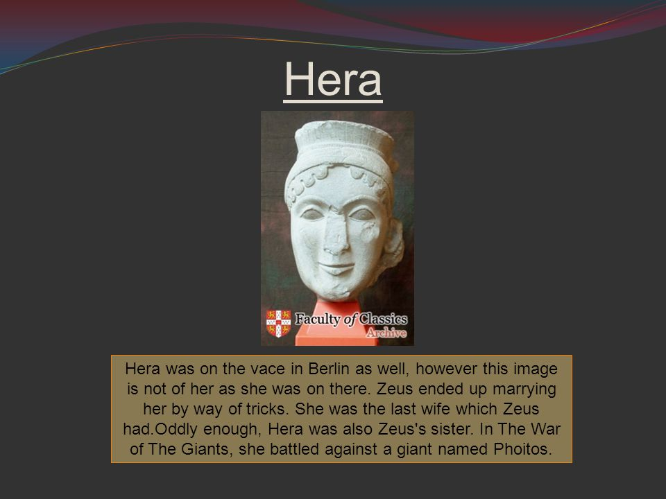 Hera Hera was on the vace in Berlin as well, however this image is not of her as she was on there.