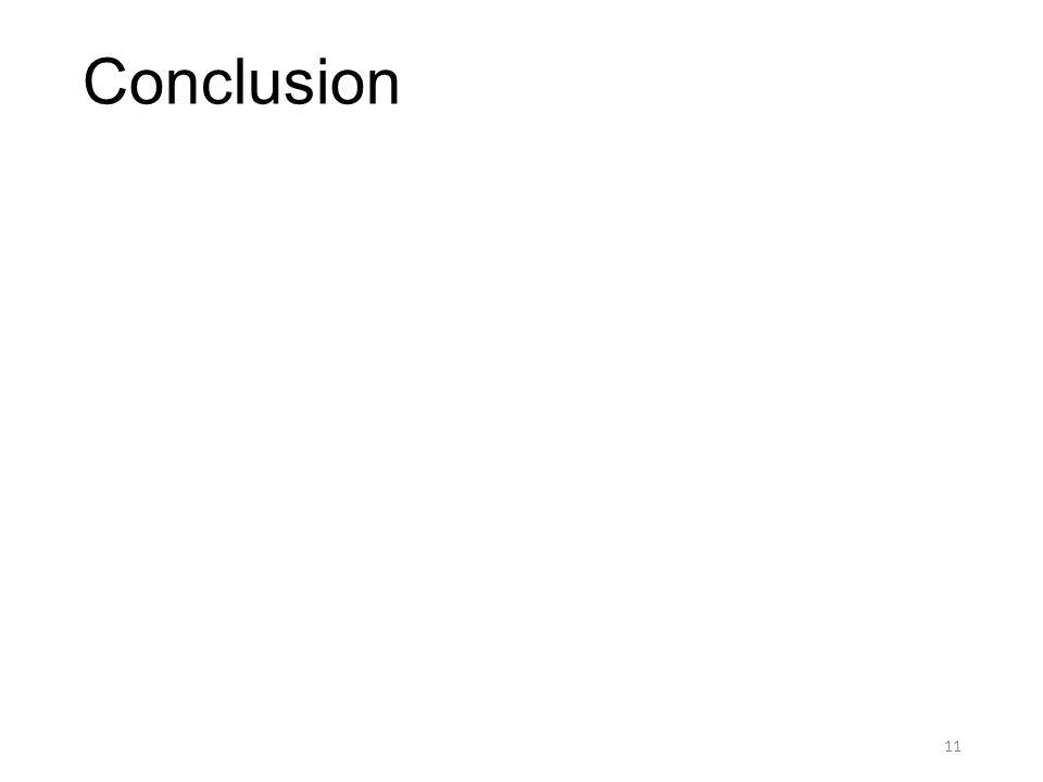 Conclusion 11
