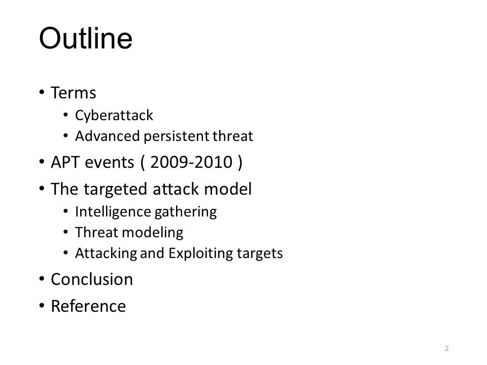 Terms Cyberattack A cyberattack is deliberate exploitation of computer systems, technology-dependent enterprises and networks.