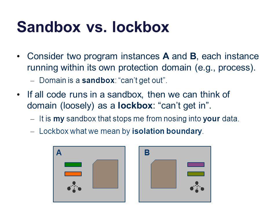 Sandbox vs.