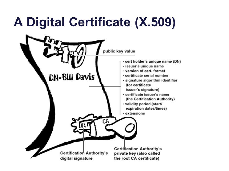 A Digital Certificate (X.509)