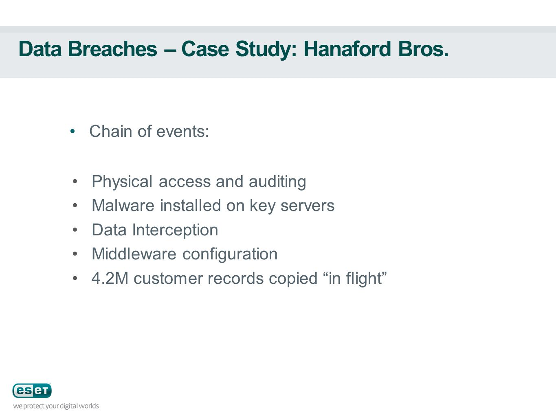 Data Breaches – Case Study: Hanaford Bros.