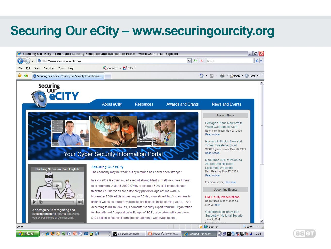 Securing Our eCity – www.securingourcity.org