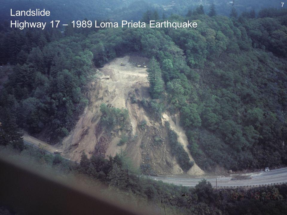 Landslide Highway 17 – 1989 Loma Prieta Earthquake 7