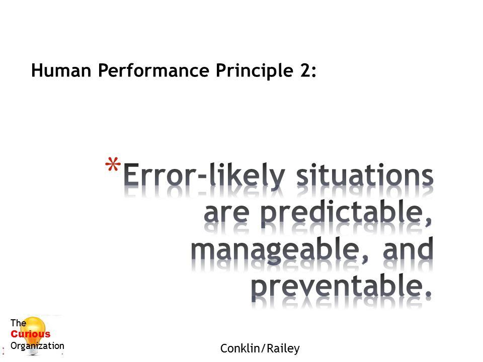Human Performance Principle 2: The Curious Organization Conklin/Railey