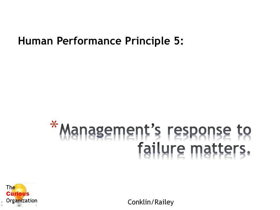 Human Performance Principle 5: The Curious Organization Conklin/Railey