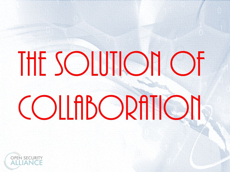 \ The Solution of collaboration