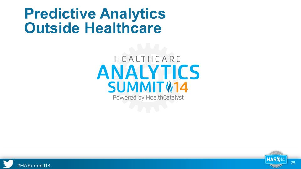 #HASummit14 Predictive Analytics Outside Healthcare 25
