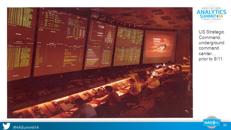 #HASummit14 US Strategic Command, underground command center… prior to 9/11 26