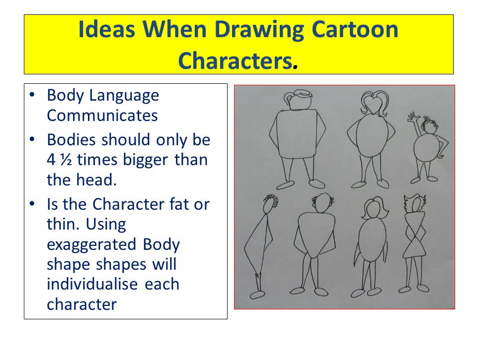 Ideas When Drawing Cartoon Characters.