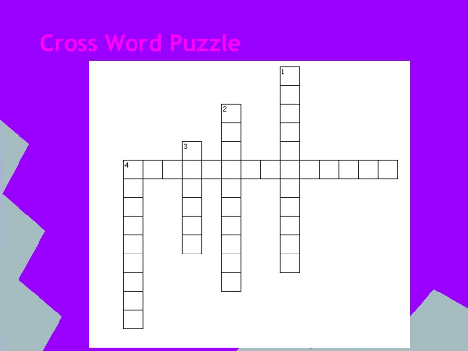 Cross Word Puzzle Clues Across 4.hermit who smites Sir MelyasDown 1.