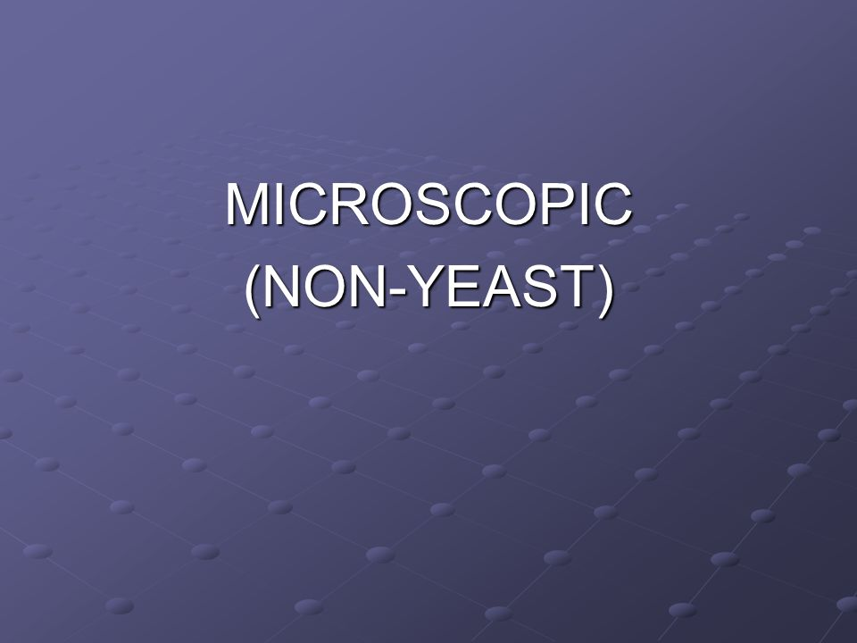 MICROSCOPIC(NON-YEAST)