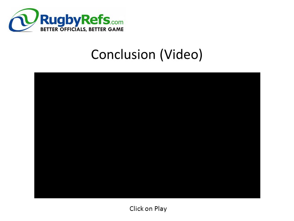 Conclusion (Video) Click on Play
