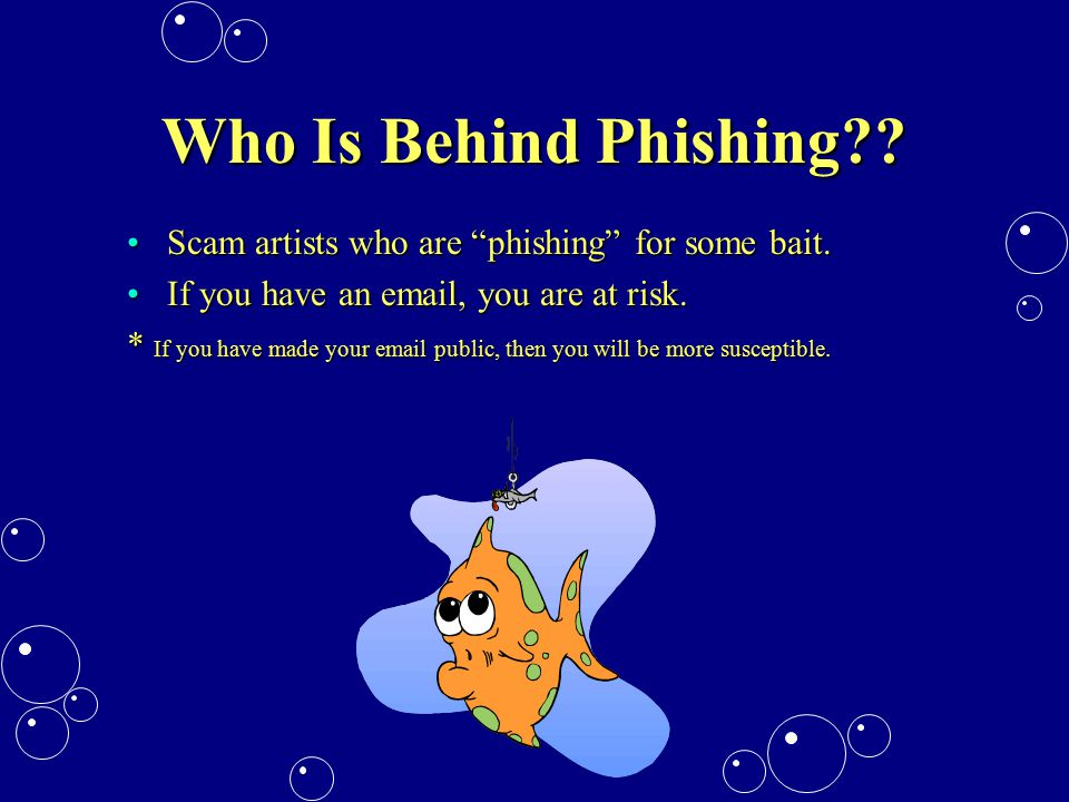 Who Is Behind Phishing .