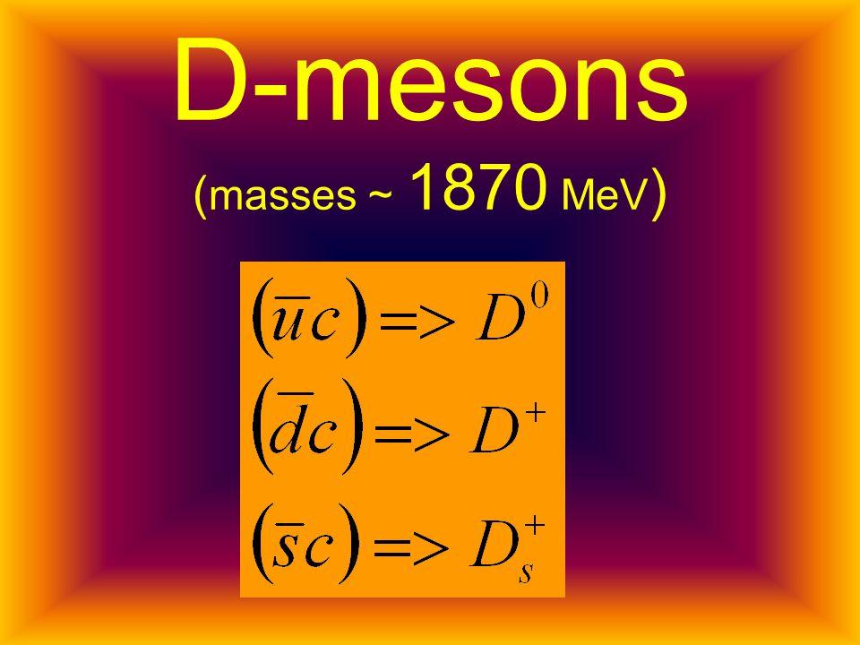 D-mesons ( masses ~ 1870 MeV )