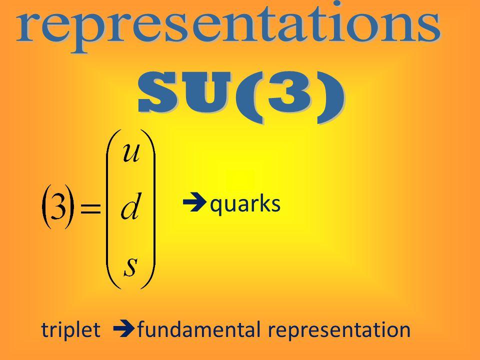  quarks triplet  fundamental representation