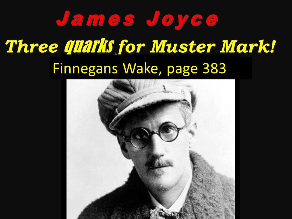 Three quarks for Muster Mark! Finnegans Wake, page 383