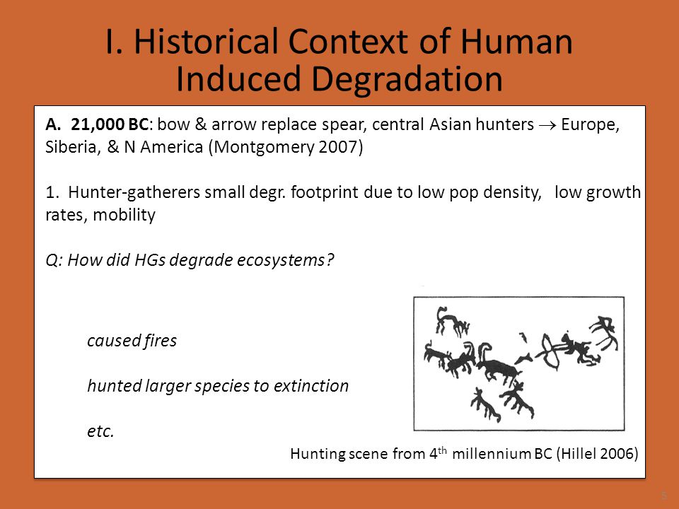 I.Historical Context of Human Induced Degradation 5.