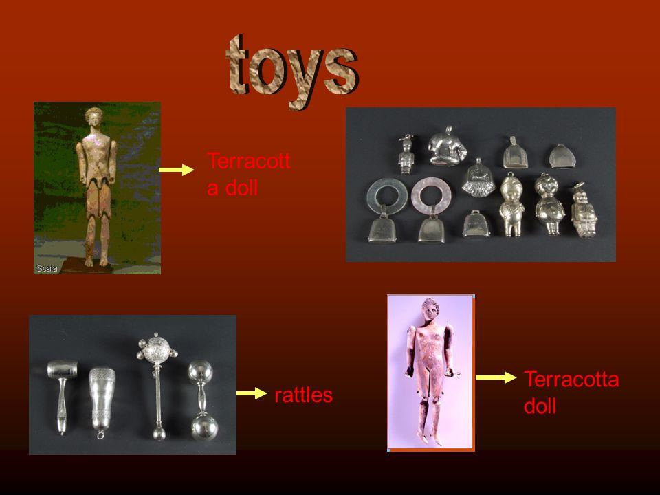 rattles Terracotta doll
