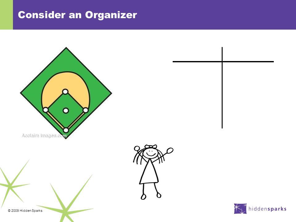 © 2009 Hidden Sparks Consider an Organizer