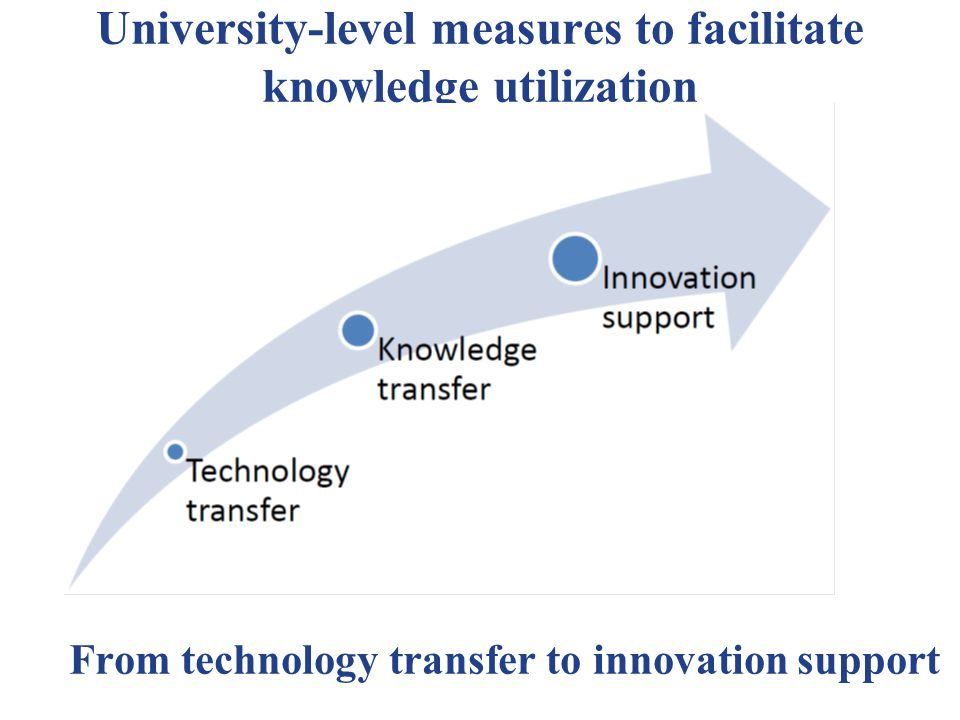 From technology transfer to innovation support University-level measures to facilitate knowledge utilization