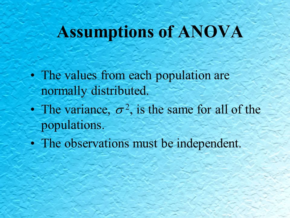 Impact of Assumptions Given these assumptions, what is the source of variation among the observed variables.