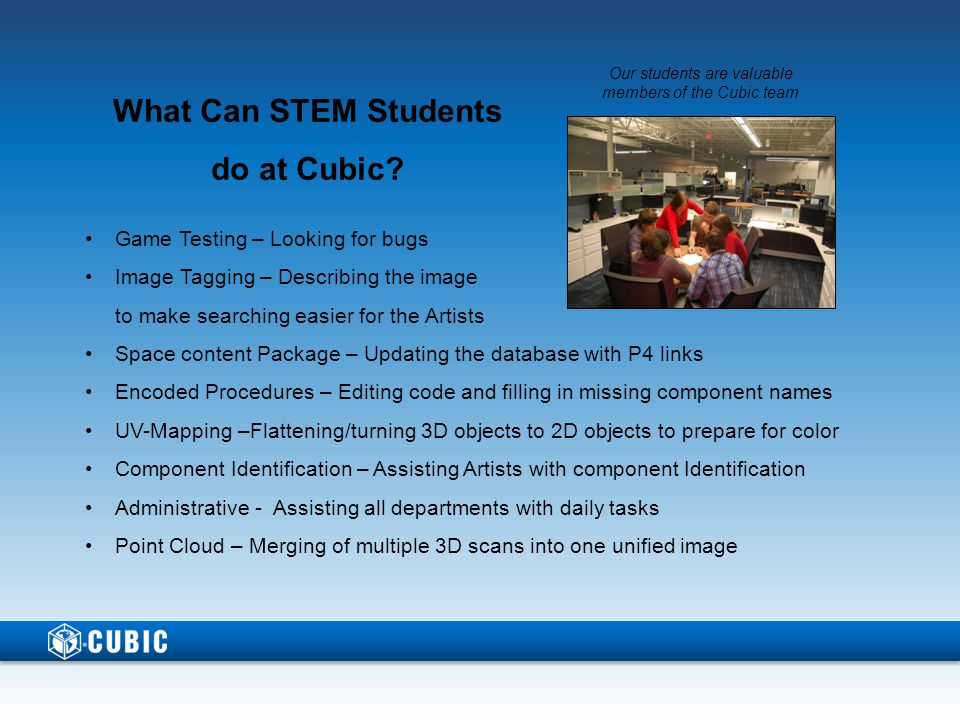What Can STEM Students do at Cubic.