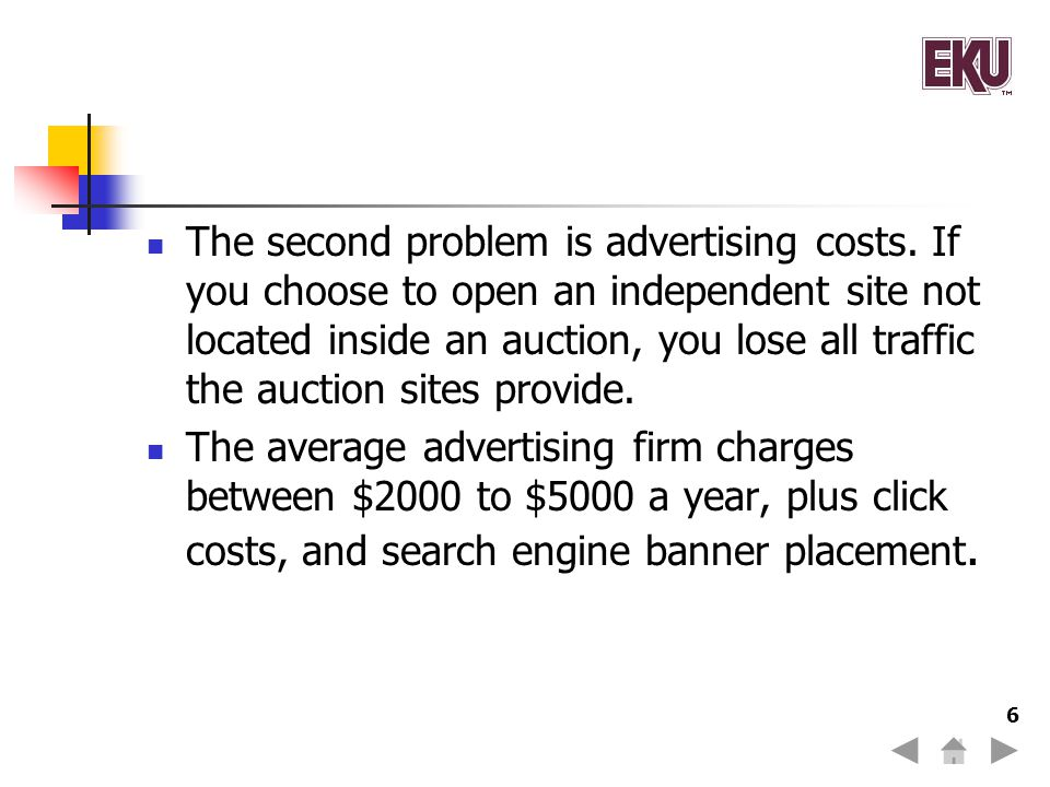 The second problem is advertising costs.