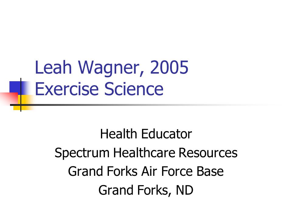 Heidi Warmbold, 2007 Wellness/Fitness Management Duluth, MN