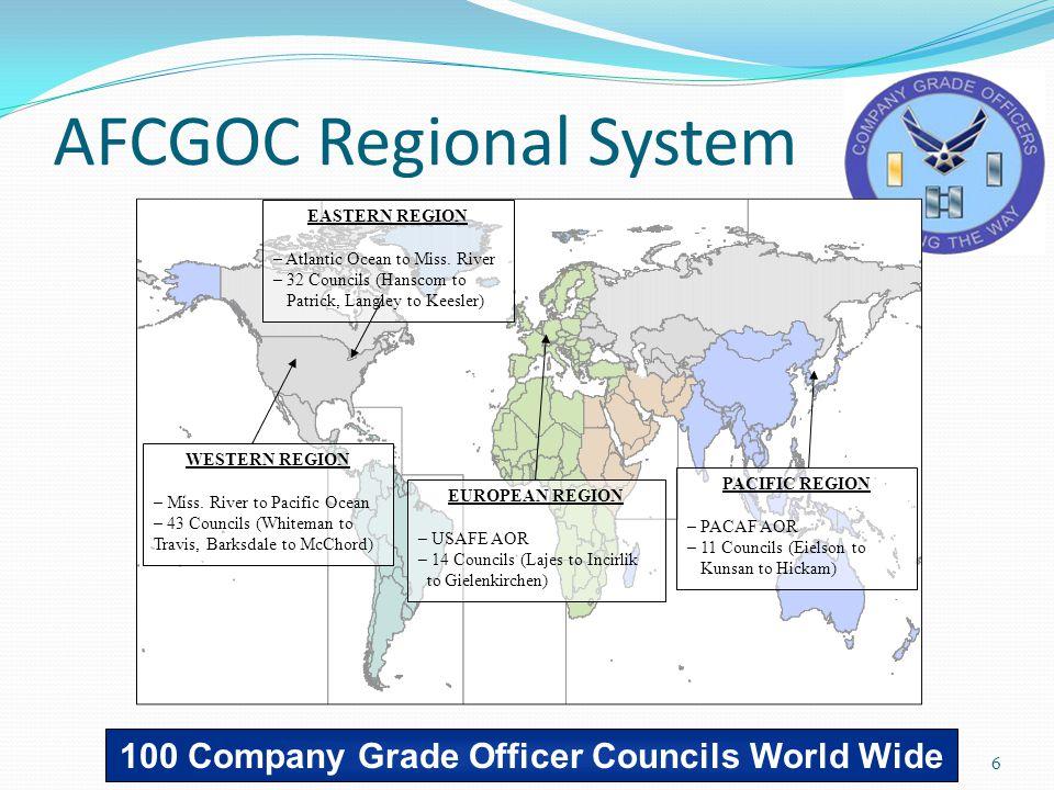6 AFCGOC Regional System EASTERN REGION – Atlantic Ocean to Miss.