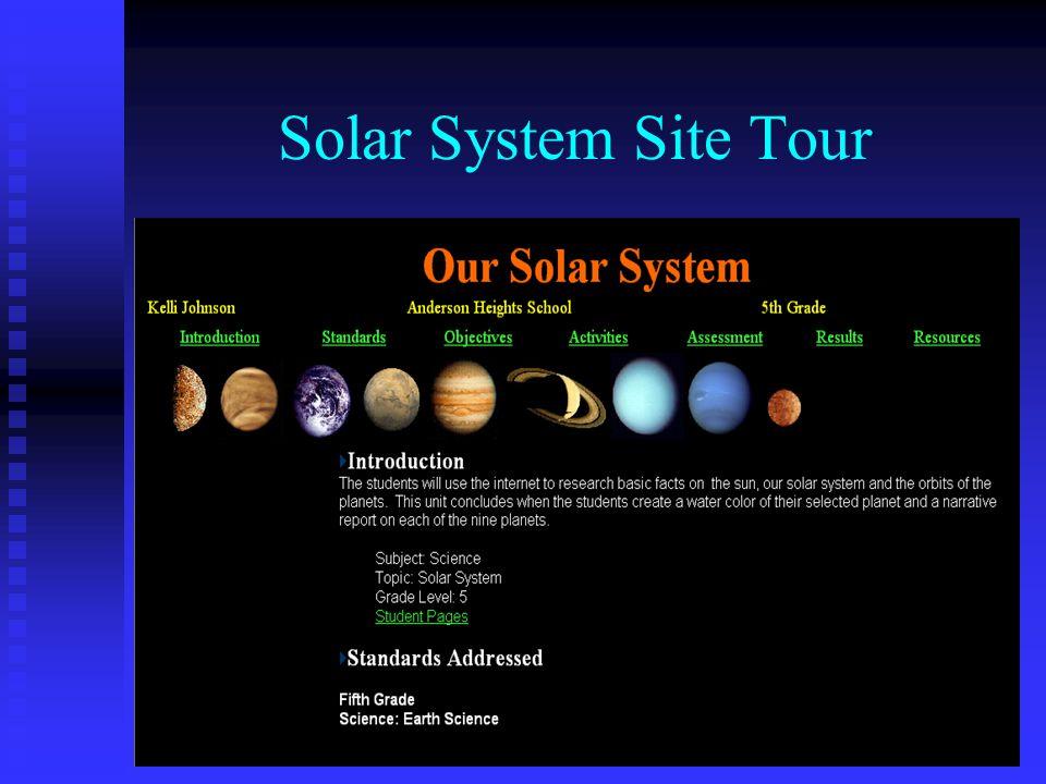 Solar System Site Tour