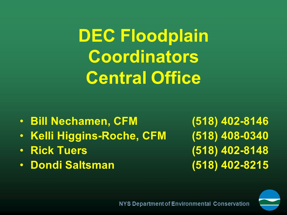 NYS Department of Environmental Conservation Minimum Standards for Foundation Openings A minimum of two openings having a total net area of not less than one square inch for every square foot of enclosed area subject to flooding.