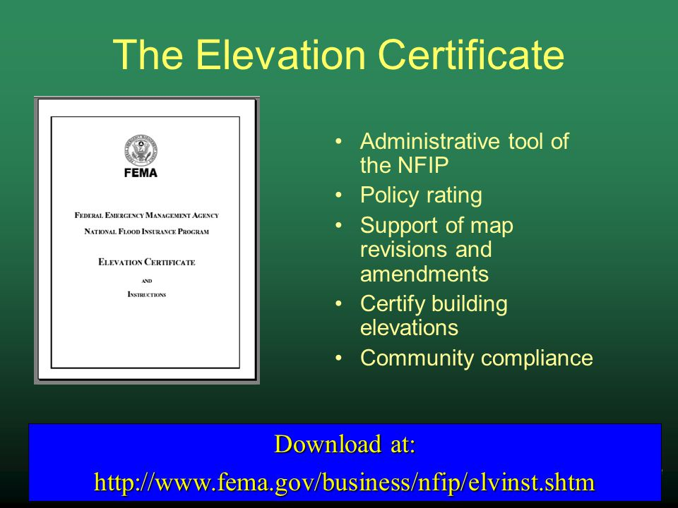 42 NYS Department Of Environmental Conservation The Elevation Certificate