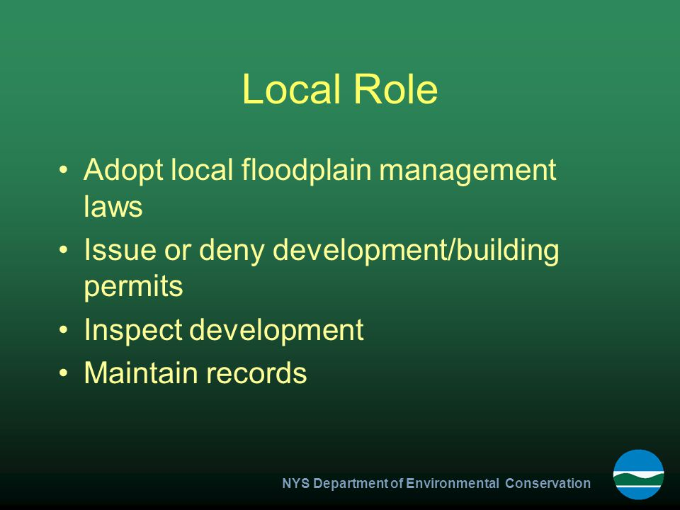 NYS Department of Environmental Conservation Definitions