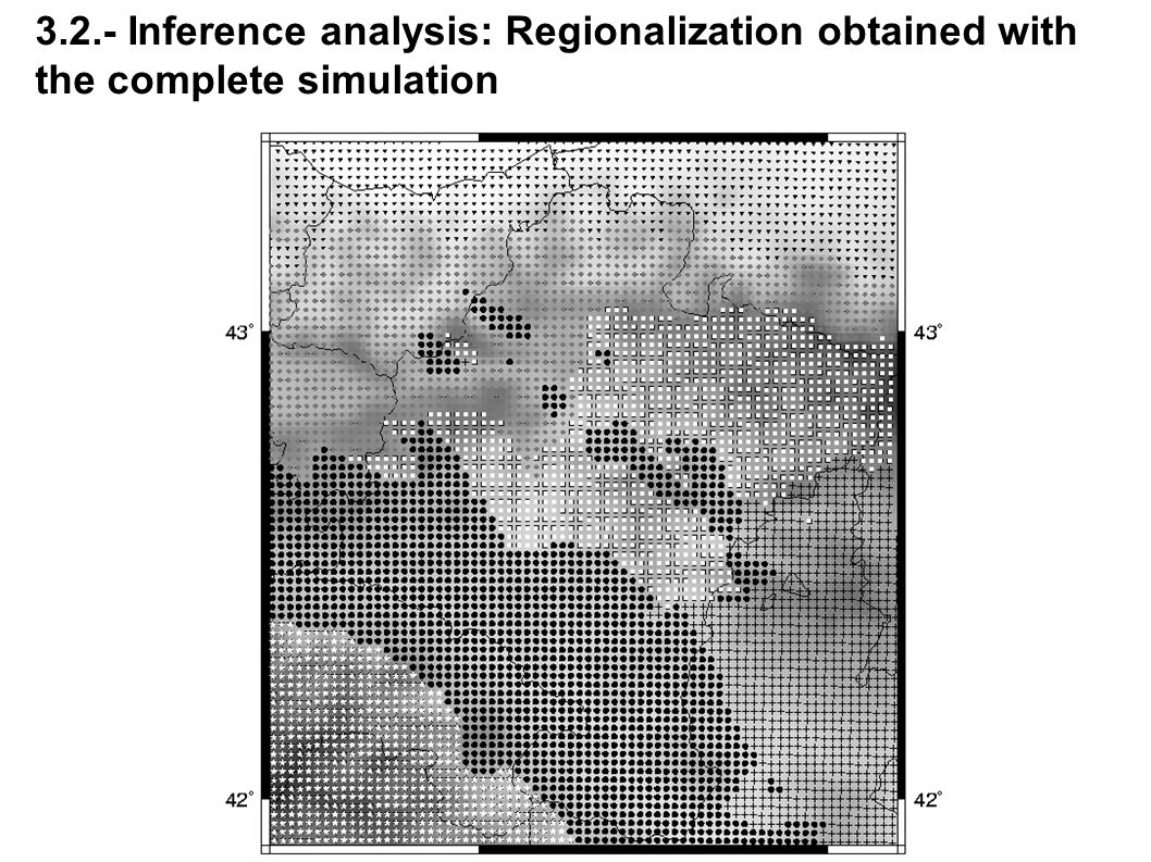 3.2.- Inference analysis: Regionalization obtained with the complete simulation