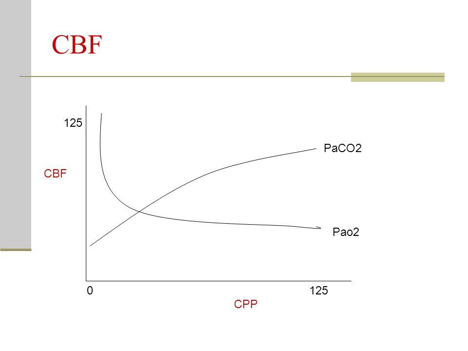 CBF Pao2 PaCO2 CPP CBF 0125