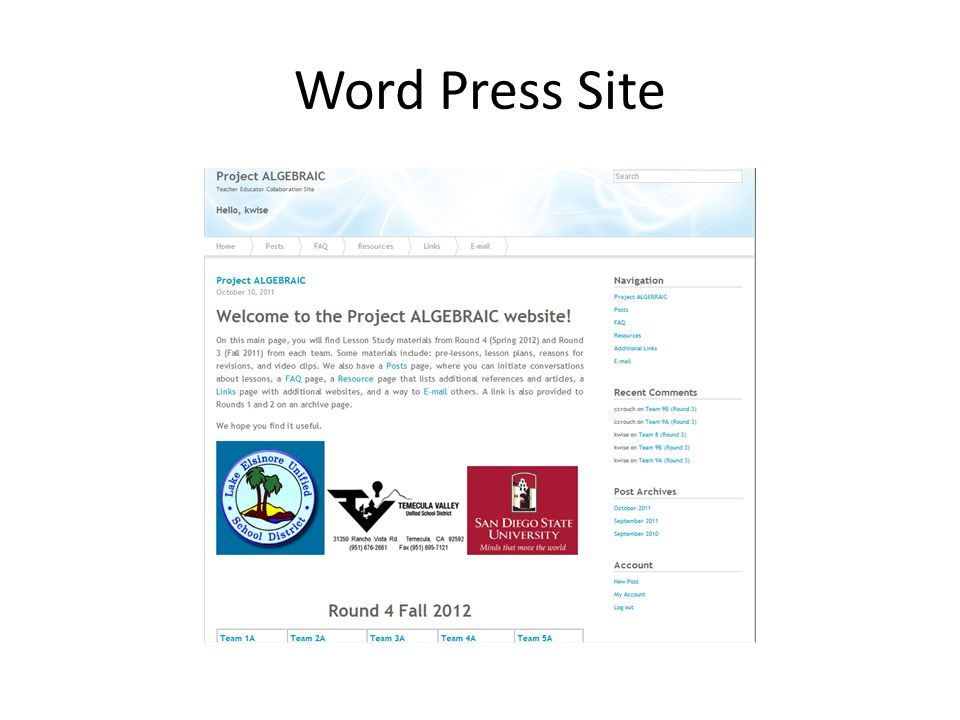 Word Press Site