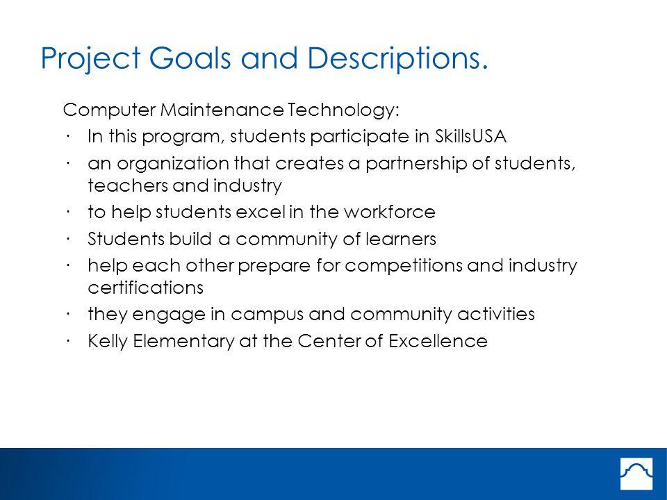 Project Goals and Descriptions.